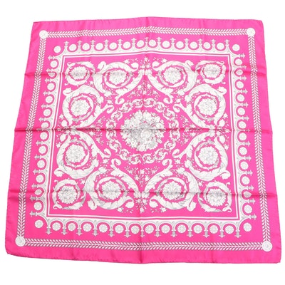 Versace Collection Foulard in Printed Silk Twill