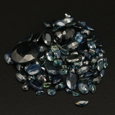 Loose 39.45 CTW Mixed Faceted Sapphire