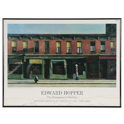 Whitney Museum of American Art Offset Lithograph Poster After Edward Hopper