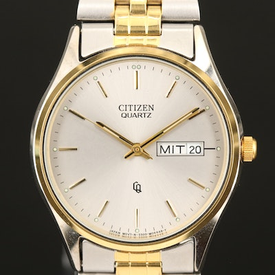 Citizen Two Tone Day/Date Wristwatch
