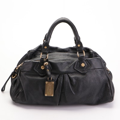Marc by Marc Jacobs Satchel in Black Grained Leather