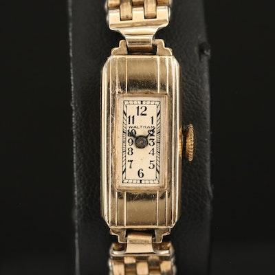 Waltham Gold Filled Stem Wind Wristwatch