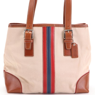 Coach Signature Tote in Canvas and Leather