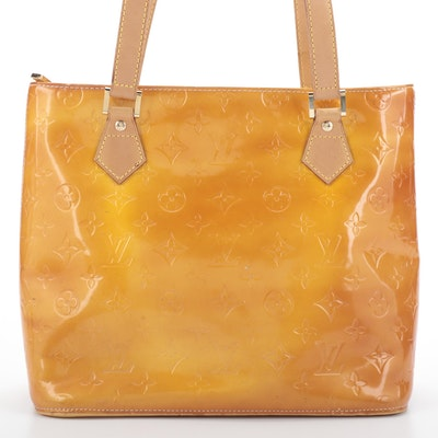 Louis Vuitton Houston Handbag in Monogram Vernis and Vachetta Leather