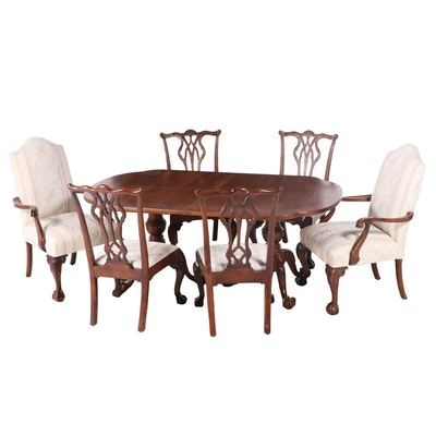 Seven-Piece Century Furniture Chippendale Style Dining Set, Late 20th Century