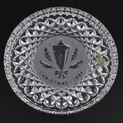 "Waterford Crystal ""Twelve Days of Christmas"" Plate, 1984"