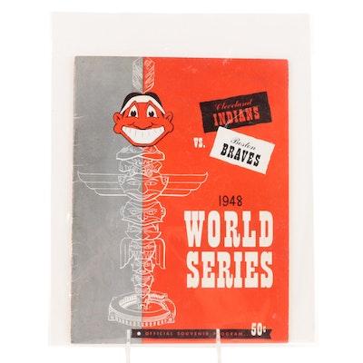 1948 World Series MLB Souvenir Program, Cleveland Indians vs. Boston Braves