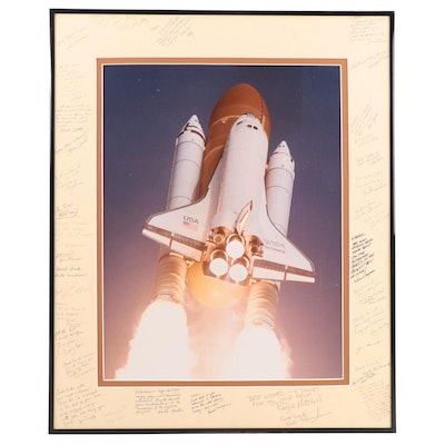 """Space Shuttle """"Discovery"""" Photographic Print in Frame with Signed Matte"""