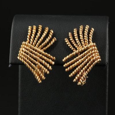 Jean Schlumberger for Tiffany & Co. 18K Rope Earrings