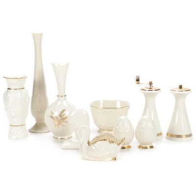 Lenox Bone China Vases, Herb Grinders, Salt and Pepper Shakers, and More