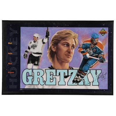 1992 Wayne Gretzky Signed Upper Deck NHL Framed Hockey Poster
