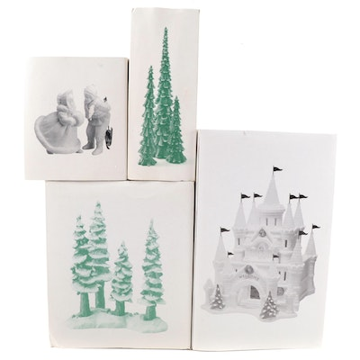 Department 56 Ceramic and Porcelain Figurines an Pine Trees