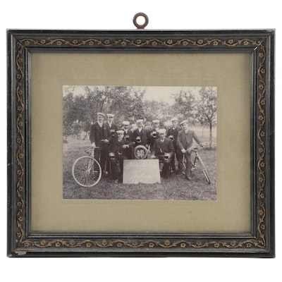 Black-and-White Photograph of German Bicycle Club, 1907