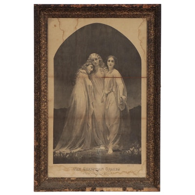 "Figural Engraving ""The Christian Graces,"" Circa 1876"