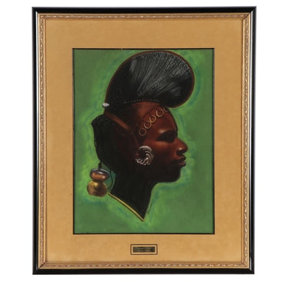 "Bro John Pastel Drawing ""Guinean Lady"""