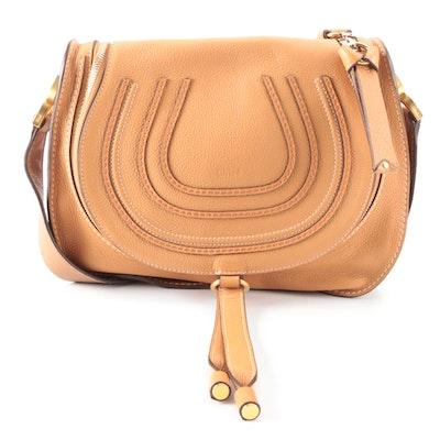 Chloé Marcie Tan Leather Crossbody Bag