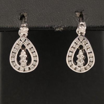 14K 0.44 CTW Pendulum Earrings