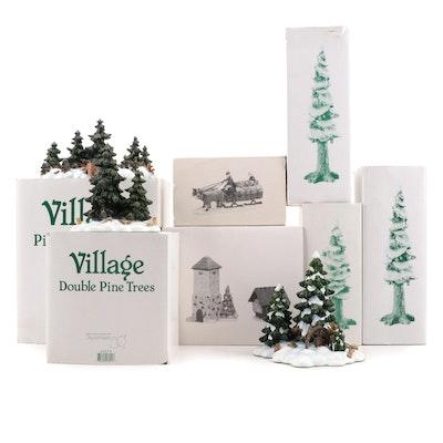 """Department 56 """"Heritage Village"""" Porcelain Landscape Figurines"""