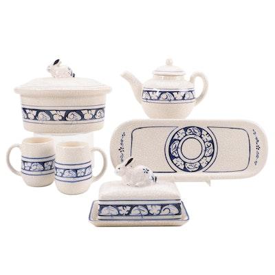 "The Potting Shed ""Dedham Rabbit"" Ceramic Tableware, Late 20th Century"
