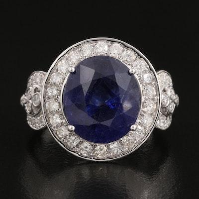 14K Corundum and 2.11 CTW Diamond Ring