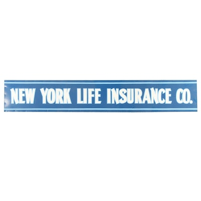 """""""New York Life Insurance Co"""" Wood and Metal Sign"""