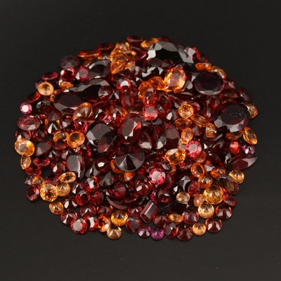 Loose 124.13 CTW Mixed Faceted Garnet and Color Changing Garnet