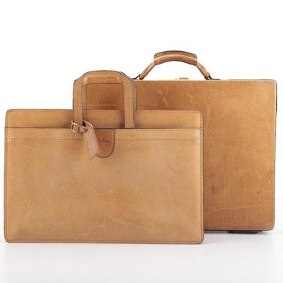 Hartmann Luggage Brief Case and Document Case in Vachetta Leather