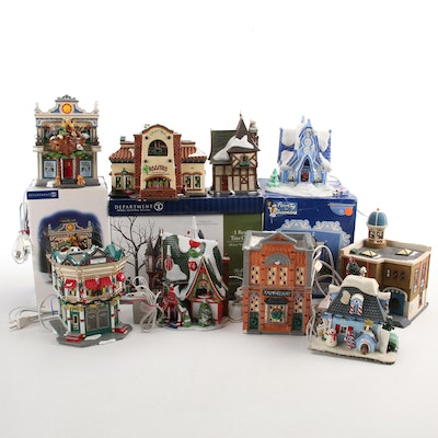 """Department 56 """"The Sweet Shop"""" and Other Ceramic Christmas Village Buildings"""