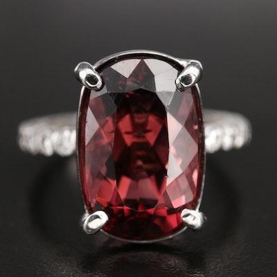14K 7.56 CT Tourmaline and Diamond Ring
