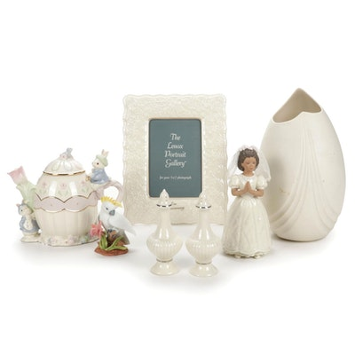 Lenox Porcelain Figurines, Vase, Teapot, Frame, Salt and Pepper Shaker