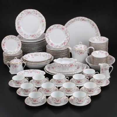 "Hutschenreuther ""Richelieu"" Porcelain Dinnerware, Mid to Late 20th Century"