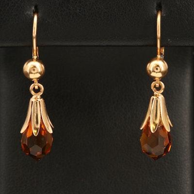 18K Glass Earrings