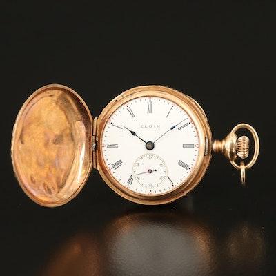 1905 Elgin 14K Hunting Case Pocket Watch