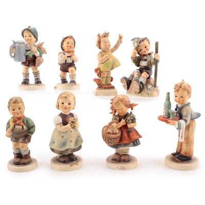 "Goebel ""Spring Cheer"" with Other Porcelain Hummel Figurines"