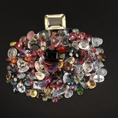 Loose 100.28 CTW Faceted Sapphire, Tourmaline, Citrine and Additional Gemstones