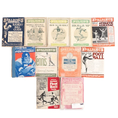 """Spalding's """"Athletic Library"""" Official Football and Basketball Books, 1915–1940"""