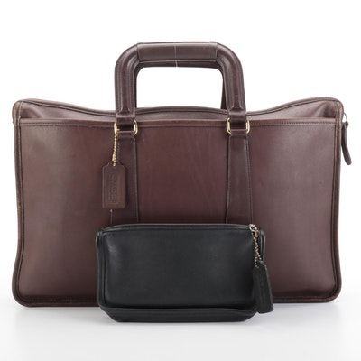 Coach Embassy Briefcase 5282 and Zip Pouch  in Glove Tanned Leather