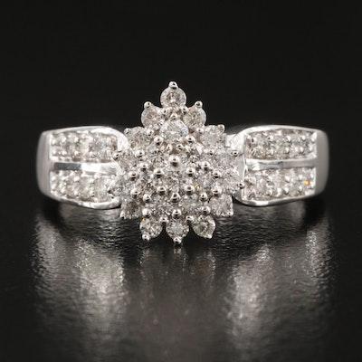 10K 0.57 CTW Diamond Cluster Ring
