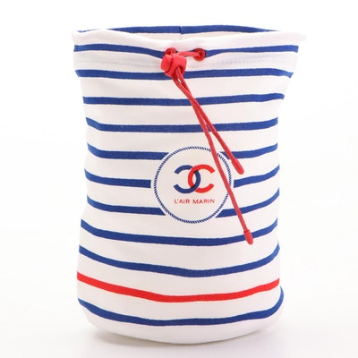 Chanel L'air Marin Cosmetic Bag in White, Red and Navy
