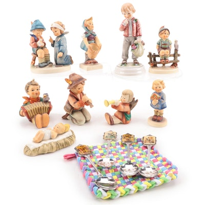 """Goebel """"Lore"""" Porcelain Figurine with Other Porcelain Hummel Figurines and More"""