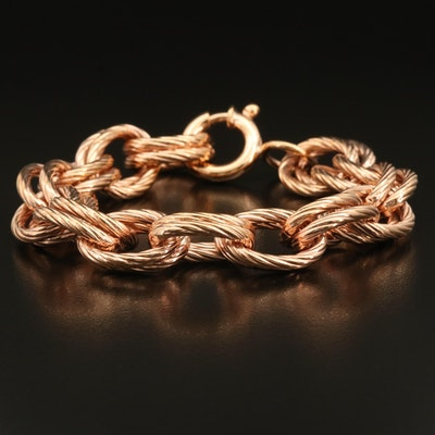Italian Bronze Double Link Bracelet