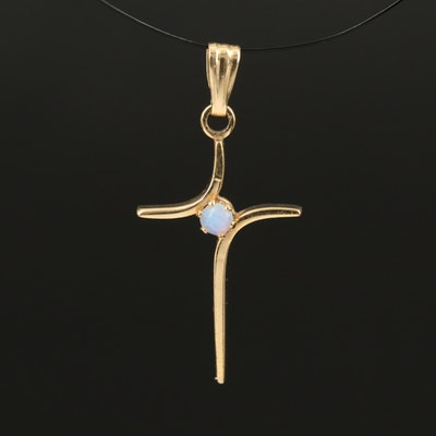 Opal Cross Pendant