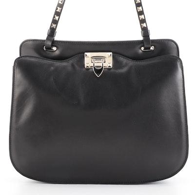 Valentino Rockstud Shoulder Bag in Black Leather