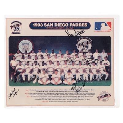 "1993 San Diego Padres ""25th Anniversary"" Signed Photo Print with Tony Gwynn"