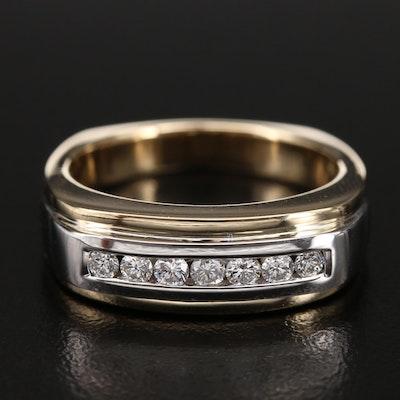 14K 0.35 CTW Diamond Channel Ring