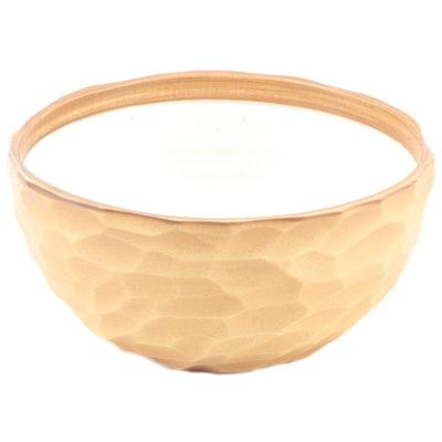 Ikuzi Teraki for Romulus Craft Studio Art Pottery Chisel Cut Porcelain Bowl