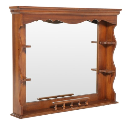 Pine Framed Mirror, Late 20th Century