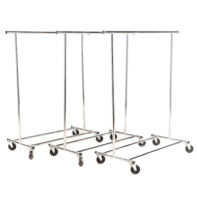 Stainless Steel Rolling Clothes Racks