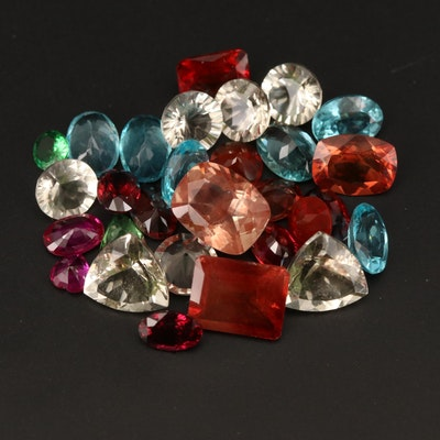 Loose 22.00 CTW Apatite, Labradorite, Tsavorite Garnet and Additional Gemstones
