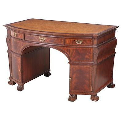 Maitland-Smith George II Style Mahogany-Veneered Kneehole Desk